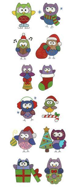 OregonPatchWorks.com - Sets - Christmas Owls Filled
