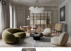 Lounge Design, Sofa Design, Luxury Home Decor, Luxury Interior, Luxury Homes, Contemporary Interior, Contemporary Apartment, Classic Interior, Interior Ideas