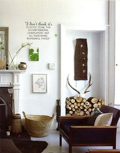 Natural, eclectic, inviting..minus the antlers
