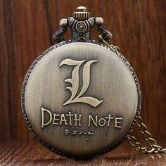 Death Note Theme Quartz Pendant Pocket Watch With Necklace //Price: $14.95 & FREE Shipping //   #uzumakinaruto #anime