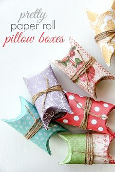 DIY  Paper Roll Pillow Boxes