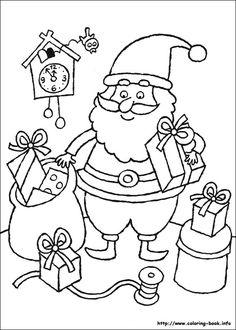 Printable Santa And Reindeer Coloring Page
