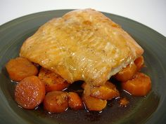 Maple Glazed Salmon with Roasted Brown Sugar Sweet Potatoes