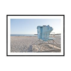 Santa Cruz Beach, Coastal Wall Decor, Beach Wall Art, Landscape Prints, Lifeguard, Frame Sizes, Beach Photography, Printable Wall Art, Tower