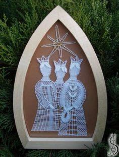Nativity scene Christmas Balls, Xmas, Christmas Ornaments, Three Wise Men, Bobbin Lace, Scene, Holiday Decor, Nativity Sets, World