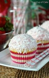 Strawberry White Chocolate Cupcakes - Your Cup of Cake