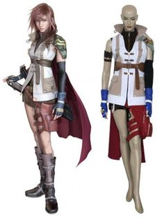 Final Fantasy XIII Lightning Cosplay Outfits Costumes
