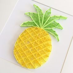 Kids love creating string art pineapples!