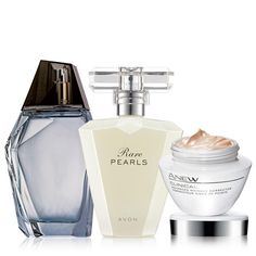 Two iconic fragrances plus one of our flagship skincare products. Something for everyone! PLUS 5 free samples of Anew Reversalist Day Cream Broad Spectrum SPF 25! A $74 value. Regularly $40.00, buy Avon Skincare online at http://eseagren.avonrepresentative.com