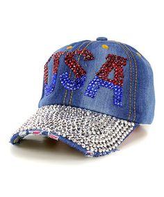Another great find on #zulily! Blue 'USA' Baseball Cap #zulilyfinds