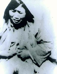 Rape of Nanking A woman who had been gang-raped by Japanese soldiers (the photo was confiscated from a captured Japanese solider).