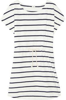 striped cotton drawstring dress ▲ j.crew       I HAVE to have this!!!! I could wear it to school!!