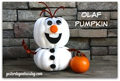 Olaf - No Carve Pumpkin
