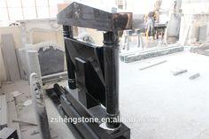black granite book with pillar headstones monuments for Ireland, UK