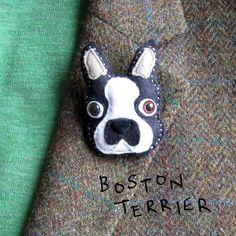 handmade felt dog brooch by thebigforest | notonthehighstreet.com