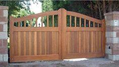 Wooden Driveway Gates | sheldon hardwood double entrace gates driveway gates side gates in ...