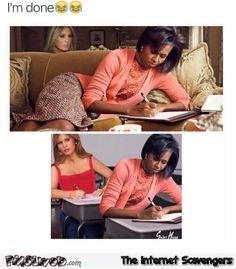 funniest melania memes | Melania Trump copying Michelle Obama funny meme | PMSLweb
