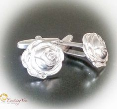 Men's cufflings made from fine silver