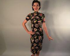 1930er Jahre Vintage Kleid Floral Viskose von OverAttiredVintage