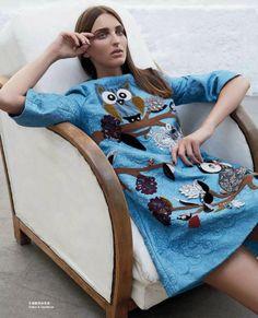 Georgina Stojiljkovic in Dolce&Gabbana Fall 2014 for Marie Claire Hong Kong August 2014