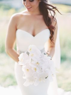 View entire slideshow: Glam White Orchid Bouquets on http://www.stylemepretty.com/collection/3633/