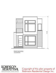 Contemporary Sauder-896 - Robinson Plans Duplex House Plans, Luxury House Plans, Modern House Plans, Small House Plans, Sakura House, House Construction Plan, Plans Architecture, Simple House Design, Luxury Homes