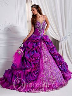 purple masquerade ball gown