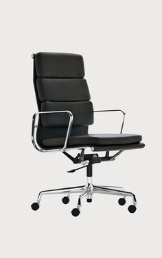 Buy online Ea 219 By vitra, recliner leather executive chair design Charles Eames, soft pad group Collection Office Chair Price, Cheap Office Chairs, Best Office Chair, Swivel Office Chair, Ergonomic Office Chair, Home Office Chairs, Vitra Chair, Office Desk, Charles Eames