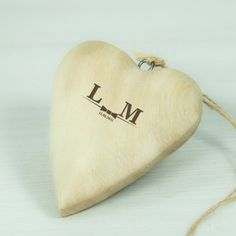Personalised Wooden Wedding Heart Decoration - Classic Bow Tie Bride and Groom