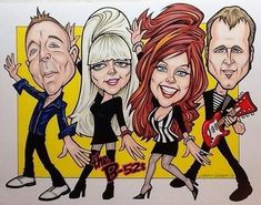 Instagram Kate Pierson, Ricky Wilson, B 52s, The B 52's, Caricatures, Larry, Fictional Characters, Cartoons, Portraits