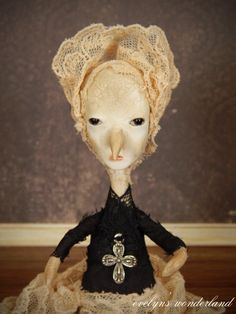 No. 6 Gothic Witchy Birdling Art Doll by by EvelynsWonderland, $85.00