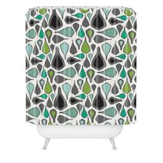 Karen Harris Crocodile Tears In Multi Shower Curtain | DENY Designs Home Accessories