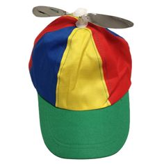 2392151bdcb Adult Multi-Color Propeller Helicopter Hat