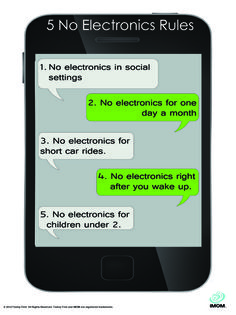 5 No Electronics Rules for Kids #no electronics http://www.imom.com/tools/training-tools/5-no-electronics-rules/