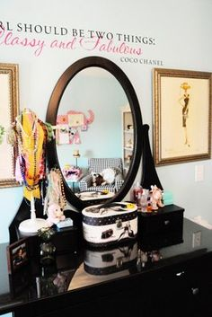 Teenager bedroom decorating ideas - The Polkadot ChairThe Polka Dot Chair Makeup counter---Addison would love this! Bedroom Decor For Teen Girls, Teenage Girl Bedrooms, Teenage Room, Girl Bedroom Designs, Home Decor Bedroom, Bedroom Ideas, Bedroom Furniture, Awesome Bedrooms, Beautiful Bedrooms