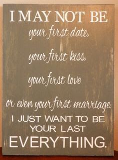 This will our second marriage, but it'll be the last