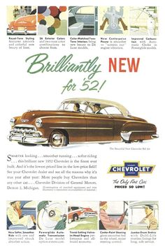 YOURE NOT THAT OLD  1952 Chevrolet advertisement.