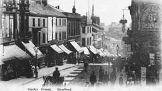 yorkshire, bradford, darley street in 1903 Bradford City, West Yorkshire, Newcastle, Beautiful Places, England, Street View, Memories, History, Roots