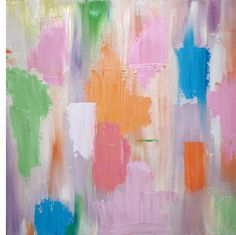 """Sherbet by Ann Jackson 20"""" x 20"""" Oil on gallery wrapped canvas www.annjackson.weebly.com"""