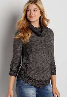 marled pullover sweater with cowl neck (original price, $39.00) available at #Maurices  On my wish list #wishpinwinsweepstakes #discovermaurices.