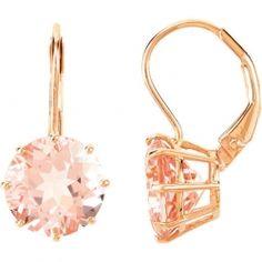 Rose Gold Morganite Stud Earrings