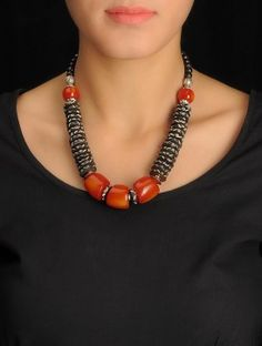 Brown-Red Tribal Necklace