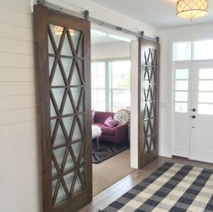 Sliding Barn Door Design Ideas for Your Home - Wood Sliding Closet Doors, Sliding Door Design, Sliding Wardrobe, Wardrobe Doors, Wood Doors, Sliding Door For Bathroom, Sliding Glass Barn Doors, Sliding Door Curtains, Glass Pocket Doors