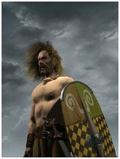 This modern painting shows a Celtic Warrior's determination to prevail Celtic Pride, Celtic Art, Celtic Connections, Alfred The Great, Celtic Warriors, Celtic Culture, Anglo Saxon, Picts, Isle Of Man