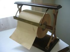 SOLD - Vintage Paper CUTTER With Roll of Vintage PAPER