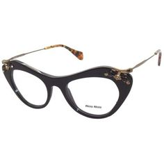 b451badc6a Pre-owned Miu Miu Eyeglasses New ( 200) ❤ liked on Polyvore featuring  accessories