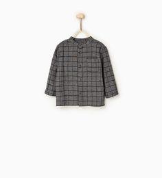 Image 2 de Chemise à carreaux surpiquée de Zara