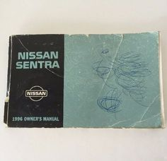 Nissan Sentra 1996 Owners Manual Car Automobile Glove Box Guide Original