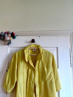 gold blouse 80s blouse silk blouse size 40 by artwardrobe on Etsy, $18.00