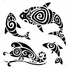 Tribal Tattoo Set by Katyau Polynesian tattoo. Polynesian Art, Polynesian Tattoo Designs, Arte Tribal, Tribal Art, Britney Spears Tattoos, Haida Kunst, Hawaiianisches Tattoo, Maui Tattoo, Tattoo Muster